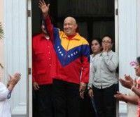 Hugo Chávez en Miraflores
