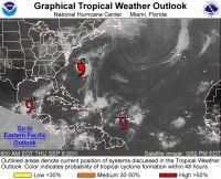 Imagen satelital del Océano Atlántico y Golfo de México. Foto: NOAA