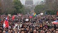 Estudiantes marchan en Chile