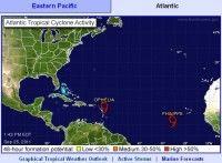Tormentas en el Atlantico. Imagen NOAA