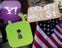 Yahoo bloqueo correos de ocupantes de Wall Street. Foto: AFP