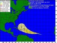 Cono de probabilidades de Tormental Tropical Maria. Foto: Weather Underground
