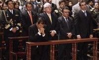 Rafael Correa asiste a la misa por la víctimas del golpe de Estado. Foto: Hoy.ec