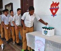 Elecciones pioneriles. Foto: Raúl Pupo