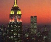 Empire Statey Las Torres Gemelas antes del atentado