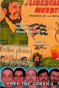 Afiche del documental ¨Por favor, que el verdadero terrorista se ponga de pie¨ de Saúl Landau