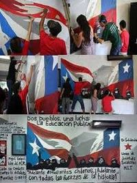 Mural solidario de Puerto Rico para Chile