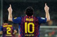 "Barça frena al Atlético con hat trick de ""Super Mess"". Foto: LUIS GENE / AFP"