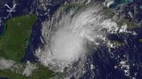 El huracán Rina sobre el mar Caribe. Foto: NOAA/ AFP