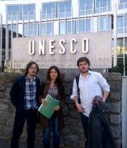 Dirigentes estudiantiles chilenos en la UNESCO