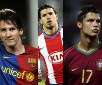 Messi, el Kun Aguero y Cristiano Ronaldo