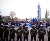 Represión de carabineros en Chile