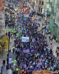 Huelga en el Reino Unido. Foto: Getty Imagen