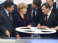 Merkel y Medvédev inauguran en Alemania el estratégico gasoducto Nord Stream. Foto: EFE