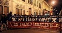 Marcha estudiantes latinoamericanos. Foto El Universal