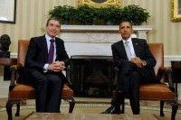 Obama y Rasmussen celebraron reunión en la que concluyeron que la misión en Libia fue efectiva. Foto: EFE