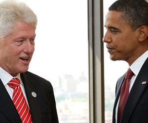 William Clinton y Barack Obama