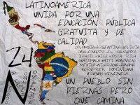 Marcha de estudidantes latinoamericanos