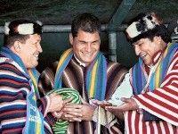 Hugo Chávez, Rafael Correa y Evo Morales