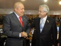 Hugo Chávez y Sebastian Piñera