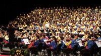 Los jóvenes de la venezolana Orquesta Simón Bolívar y su afamado director, Gustavo Dudamel, amenizaron hoy el acto de inauguración de la CELAC. Foto: AVN