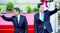 Nicolás Sarkozy y David Cameron