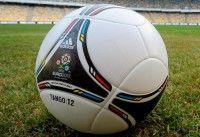 Presentación del Tango 12, el balón oficial de la Eurocopa de Ucrania y Polonia 2012, en un acto celebrado en el estadio Olímpico de Kiev, escenario de la final del torneo el 1 de julio de 2012.Foto: EFE/Str