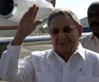 Raúl Castro en el aeropuerto