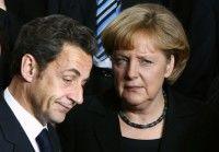 Nicolás Sarkozy y Angela Merkel