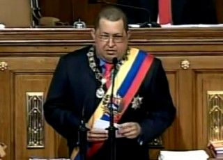 Hugo Chávez. Foto capturado desde el video