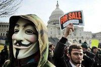 """La acción pretende demostrar que el movimiento """"Occupy"""" conserva todavía un fuerte apoyo de la sociedad estadounidense y remarcar que el Congreso se ha distanciado de los ciudadanos. Foto: Getty Images"""