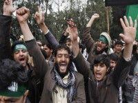 Afganos protestan contra las masacres perpetradas por tropas de la OTAN. Foto: AP