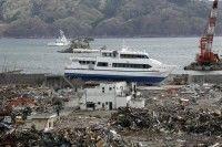 """Foto de archivo del 07 de mayo de 2011 que muestra una vista general del pueblo costero de Otsuchi, en la provincia de Iwate, norte de Japón. Al cumplirse un año del devastador …más terremoto y tsunami del 11 de marzo, que dejó casi 20 mil muertos y desaparecidos, el noreste de Japón se encuentra en plena reconstrucción y los reactores de Fukushima en """"parada fría"""", mientras miles de operarios luchan aún por poner fin a la crisis. Foto: EFE"""