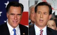 Mitt Romney y Rick Santorum