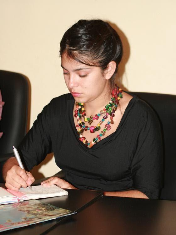 Karol Cariola, secretaria General de las Juventudes Comunistas de Chile