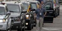 Agentes del servicio secreto durante la llegada de Barack Obama a Cartagena. Foto: Carlos Ortega, El Tiempo, Colombia