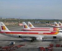 Iberia canceló 122 vuelos por huelga de pilotos