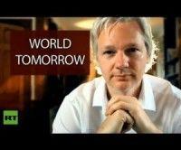 """Julian Assange en su programa de entrevistas """"El Mundo de Mañana"""""""
