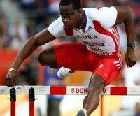 Dayron Robles y estrellas de atletismo cubano en La Habana