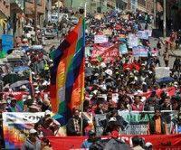 Bolivia: Movimientos sociales marcharon en defensa de Evo Morales
