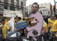 Protestas en España. Foto: AFP