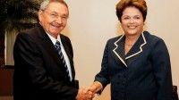 La Presidenta Dilma Rousseff durante un encuentro con el presidente de Cuba, Raúl Castro. Foto: Roberto Stuckert Filho/PR