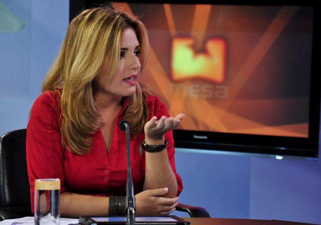 La periodista Cristina Escobar, en la Mesa Redonda de es