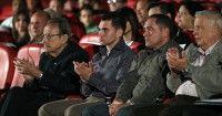 Faure Chomon, Elian Gonzalez, Juan Miguel Gonzalez y Alfonso Borges en Gala por el 15 Aniversario de la Mesa Redonda. Foto: Ismael Francisco/Cubadebate.