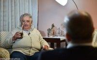 Pepe Mujica entrevistado por Randy Alonso para la Mesa Redonda, 25 de enero de 2016. Foto: William Silveira Mora.