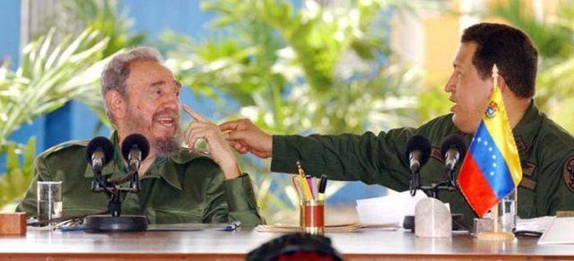 Fidel y Chávez en Pinar del Río, Cuba.