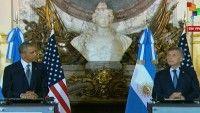 El discurso de Macri estuvo lleno de elogios al mandatario estadounidense. Y el de Obama plagado de felicitaciones por la nueva economía neoliberal en Argentina.