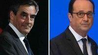 Candidatos a la presidencia de Francia François Fillon y François Hollande