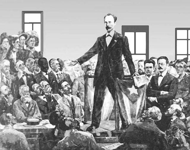 José Martí el 10 de abril de 1892 al crear el Partido Revolucionario Cubano (PRC).