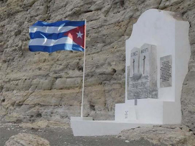 Monumento a Martí y Gómez en Playita de Cajobabo